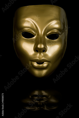 Golden Face Mask Poster