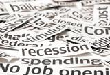 Recession headlines poster