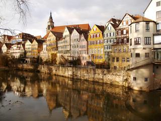 Tübingen - Neckarfront mit Spiegelung