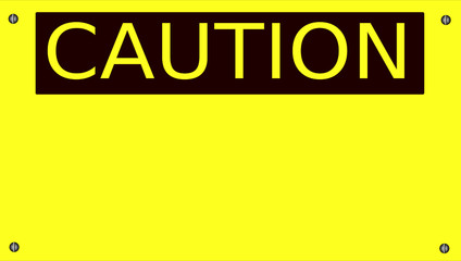 Caution Safety Sign with blank field