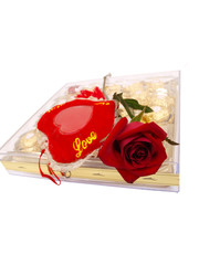 Red Rose Chocolate Box Love