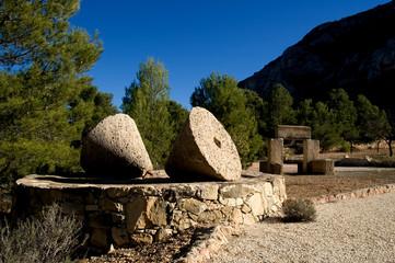 millstones - rural landscape