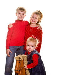 Kids with Rocking Horse