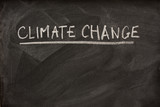 climate change title on blackboard poster