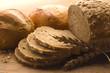 roleta: Fresh bread with ear of wheat