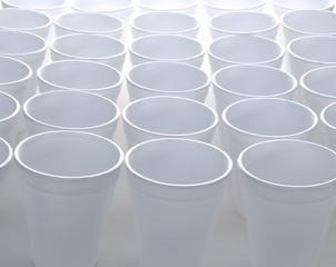 Non recyclable foam cups