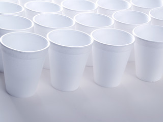 Non recyclable foam cups