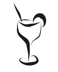 Cocktailglas weiss
