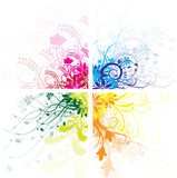 Fototapety 4 floral couleurs
