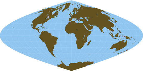 Sinusoidal World Map