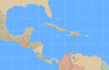 Caribbean Region Map