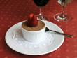 Dish of Italian cuisine - tiramisu with strawberry