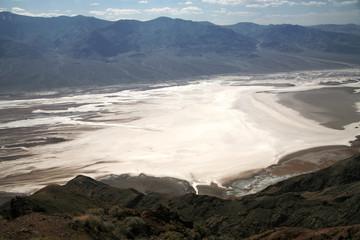 white salt fields - Death Valley national park, California, USA
