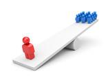 Balance. Leadership concept. Business metaphor poster