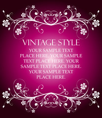 abstract vintage banner