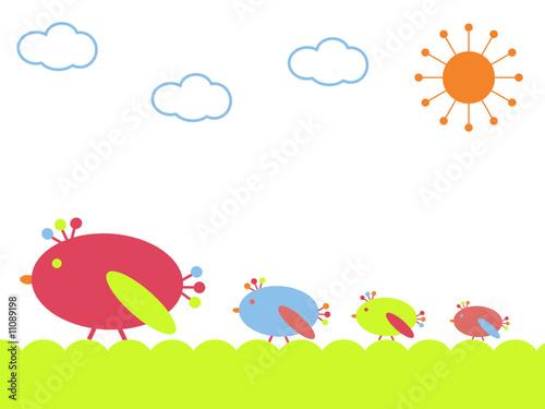Obraz Birds on a walk