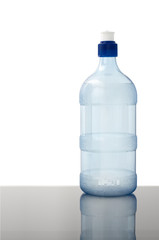 water bottle on white