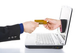 Accept credit card for online transaction poster