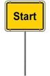Ortseingangsschild Start