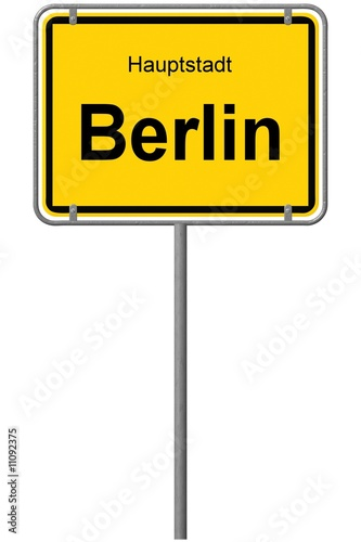 Ortseingangsschild Berlin