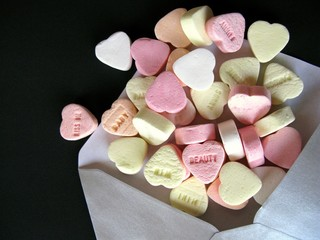 Hearts as a valentines letter