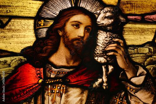 Foto op Plexiglas Bedehuis Jesus with Lamb