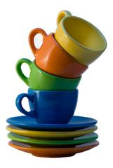 Multi Coloured Coffee Cups
