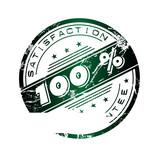 Satisfaction stamp poster