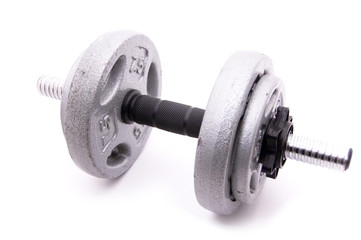 Dumbbell with Four Weights on White