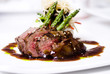 gourmet fillet mignon steak at five star restaurant. - 11101556