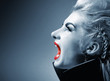 Screaming gothic woman