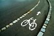 Markierung Radweg auf Straße