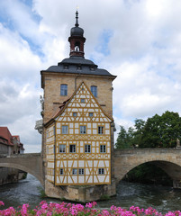 Old city house of Bamberg (Bavaria, Germany)