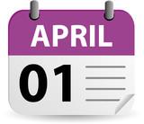 Calendar - April Fools Day poster