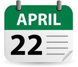 Calendar - Earth Day poster