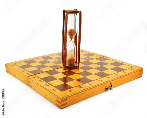 Chessboard and hourglass