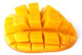 tranche de mangue découpée