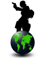 World and gunman
