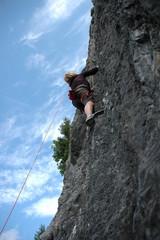 Outdoor Kletterwand - Frau -
