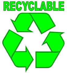 signalétique produit recyclable