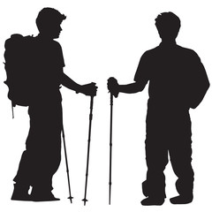 mountaineer silhouette vector