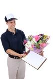 Man Delivering Flowers poster
