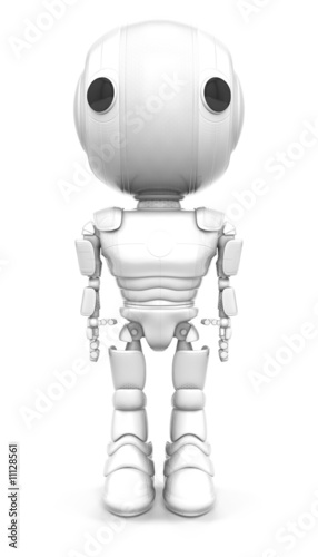 Robot Standing Straight Looking Forward