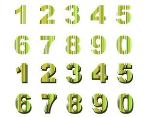 numbers green stripes