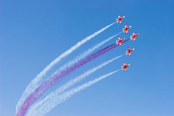 """Turkish Stars"" the aerobatic demonstration team of the Turkish"