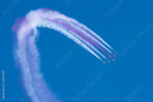 """Turkish Stars"" the aerobatic demonstration team of the Turkish"