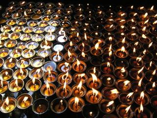 Prayer candles, Katmandu, Nepal