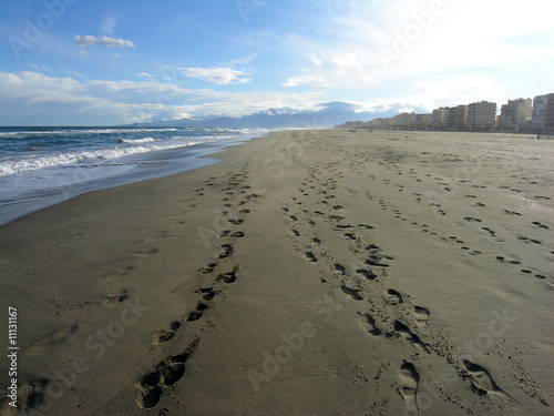 Footprints on Canet Plage