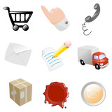 e-commerce icons poster