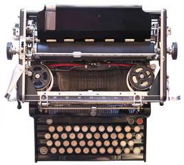 A 1900's typewriter - Wide view